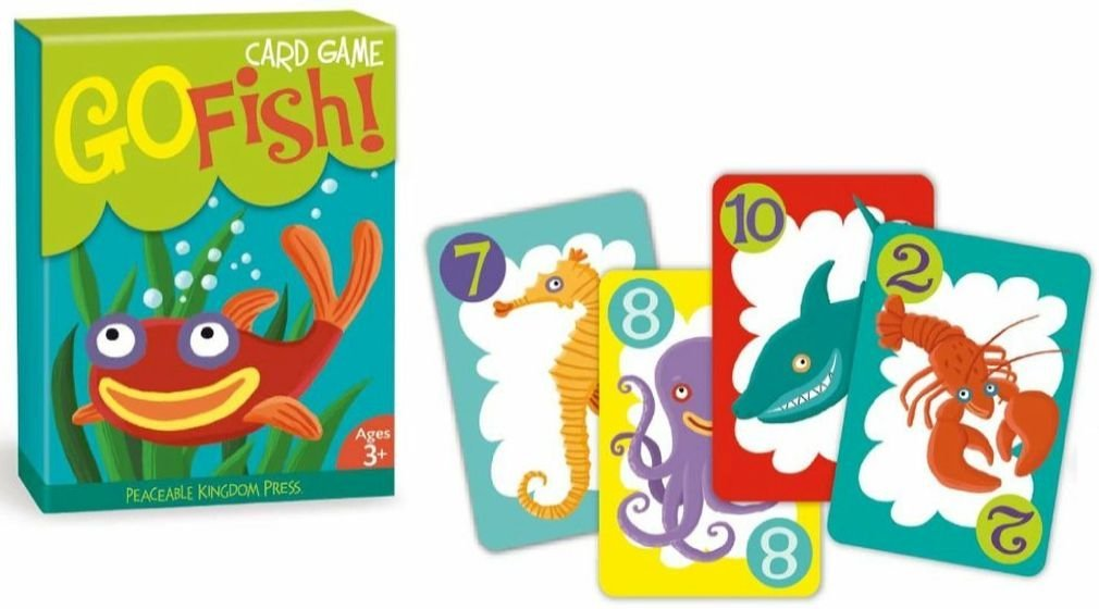 Go Fish card game for kids on Amazon
